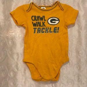 """Packers """"Crawl, Walk, Tackle!"""" Onsie 6-12 Months!"""